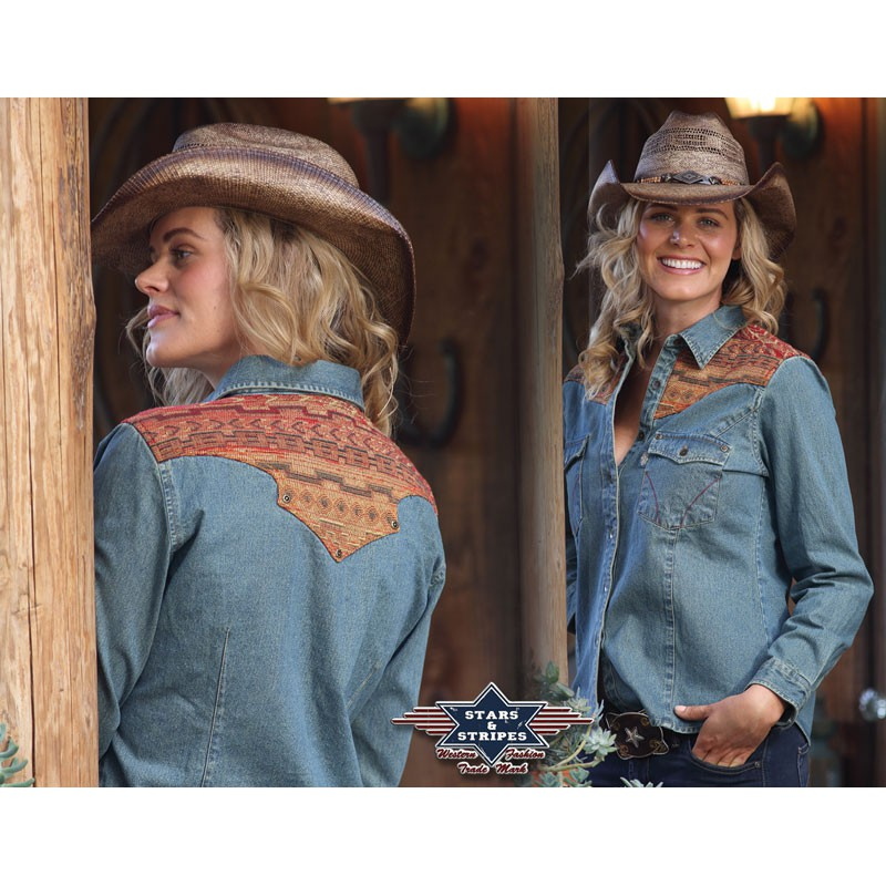 reputable site 1c714 dee9a Camicia Stars and Stripes Elvita - Cowboys and Kisses