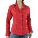 Camicia Black Foot Paillettes Red