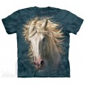 T-Shirt White Horse Portrait