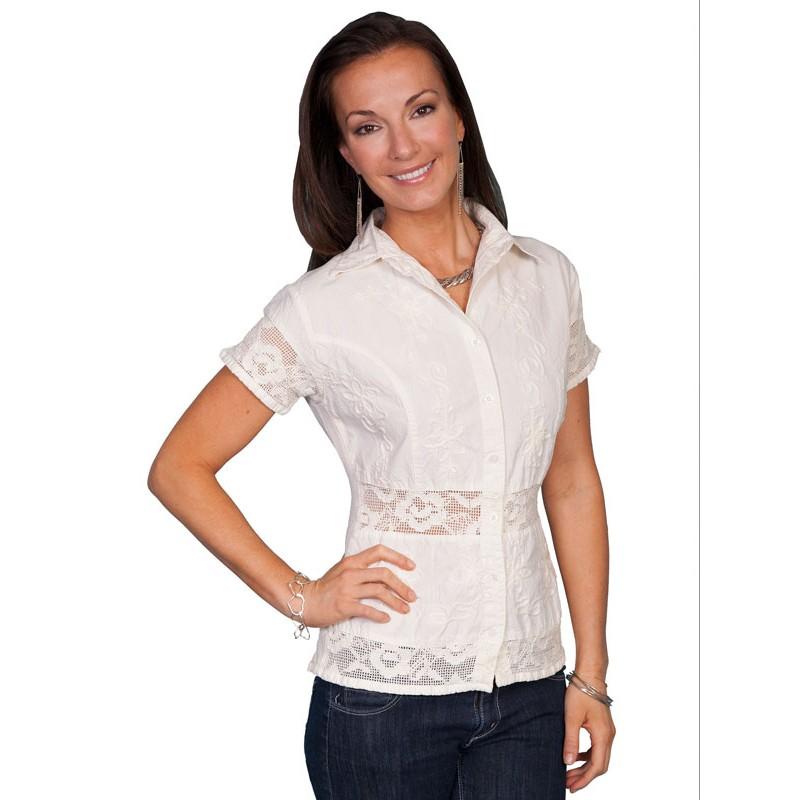 Camicie > Camicie Scully Donna > Camicia Scully PSL-118NAT